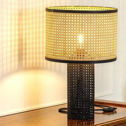 Lampe à poser en cannage Paille-en-Queue Unum Design Moodbox