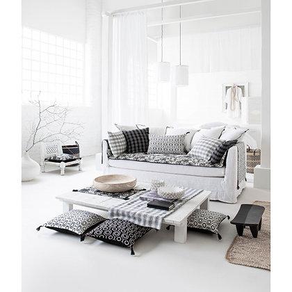 Canapé Soho en lin blanc et naturel 3/4 places Harmony Textiles Moodbox