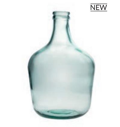 Dame Jeanne Comète vase bouteille en verre recyclé transparent SEMA Design Moodbox