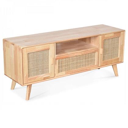 meuble TV télé émile rotin bois hévéa cannage Opjet Moodbox