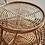 Table basse d'appoint verre et rotin plateau en verre SEMA Design Moodbox
