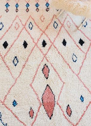 tapis beni ouarain véritable marocain fait main sur mesure laine berbère moodbox