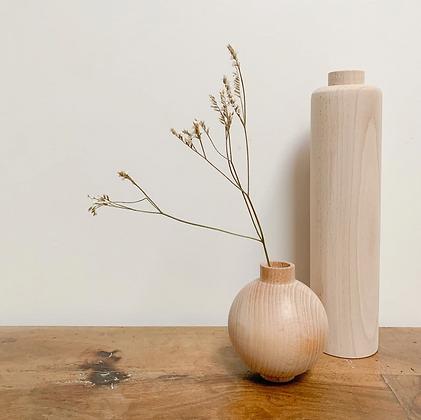 Vases DUO bois de hêtre rond et grand contraste Anso Design Moodbox