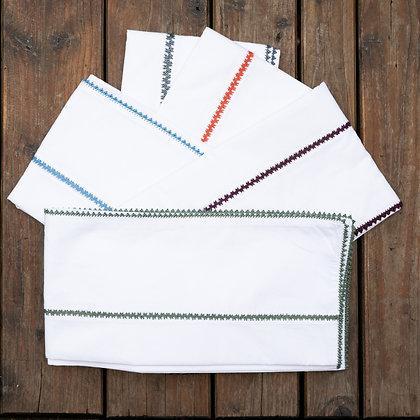 Housse de couette brodée Tounaïa Maroc Percale de coton d'Egypte broderie de couleur Marrakech draps brodés marocains Moodbox