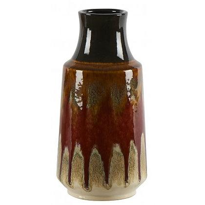 Vase décoratif céramique orangée Lava Athezza Moodbox