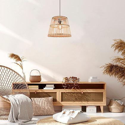 Suspension Cortès luminaire en bambou naturel bois rotin Corep Moodbox