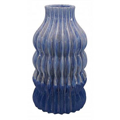 Vase en céramique bleue Kili Athezza Moodbox