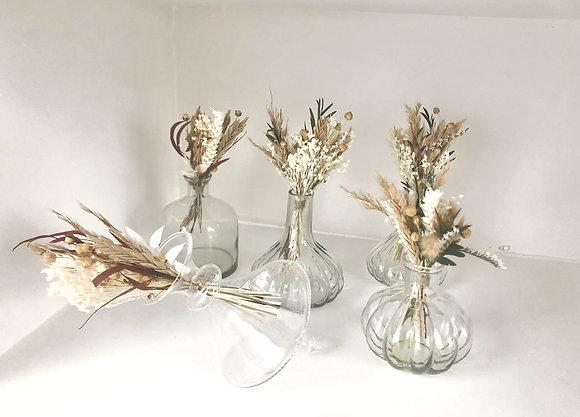 lot de petits soliflores en verre Bazar de luxe Affari Moodbox