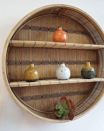 Étagère PLAKA deux niveaux en bambou ronde SEMA Design Moodbox