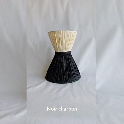 Applique en raphia Mademoiselle en 5 coloris bicolore noir charbon Unum Design Moodbox