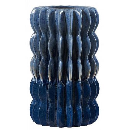 Vase décoratif en céramique bleue Kili Athezza Moodbox