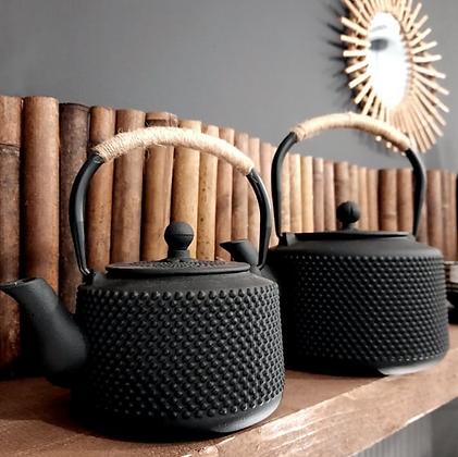 Théière en fonte avec anse en corde POINT noir thé SEMA Design Moodbox