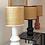 Thumbnail: Lampe Dakar Terracota , blanche et Noir