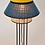 Lampe à poser Singapour Bleu Jaune cannage Market Set Moodbox