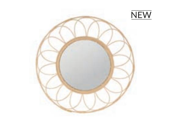 Miroir en rotin SEMA Design Moodbox