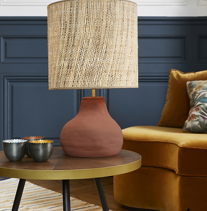 Lampe Portinatx M céramique bana raphia lampe à poser Market Set Moodbox