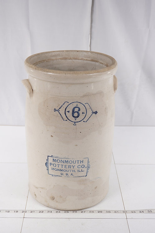 6 Gal Butter Churn By Monmouth Pottery Co