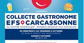 Collecte gastronomique EFS Carcassonne
