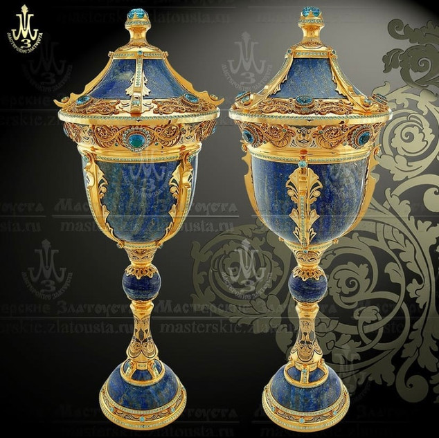 "Fireplace Set of Two Goblets ""Lords"""""
