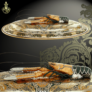 """Dish for Lobsters and Crayfish """"Aragosta"""""""