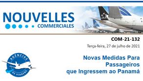 COPA - Novas Medidas Para Passageiros  que Ingressem ao Panamá