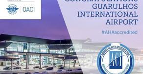 Aeroporto de Guarulhos recebe selo internacional de saúde aeroportuária
