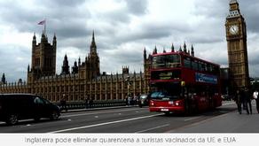 Inglaterra elimina quarentena de turistas vacinados da UE e EUA