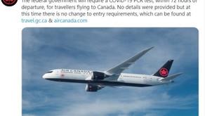 Canadá e Cuba vão exigir de turistas teste negativo para covid-19