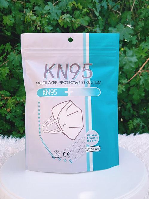 5 x KN95 FFP2 Face Mask Protection Non Surgical Medical