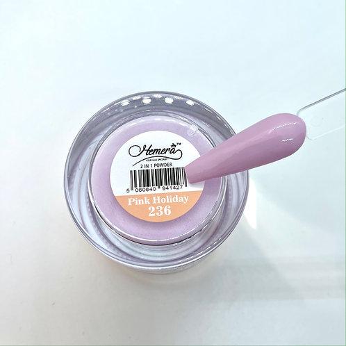 236. Pink Holiday -  Dipping Powder