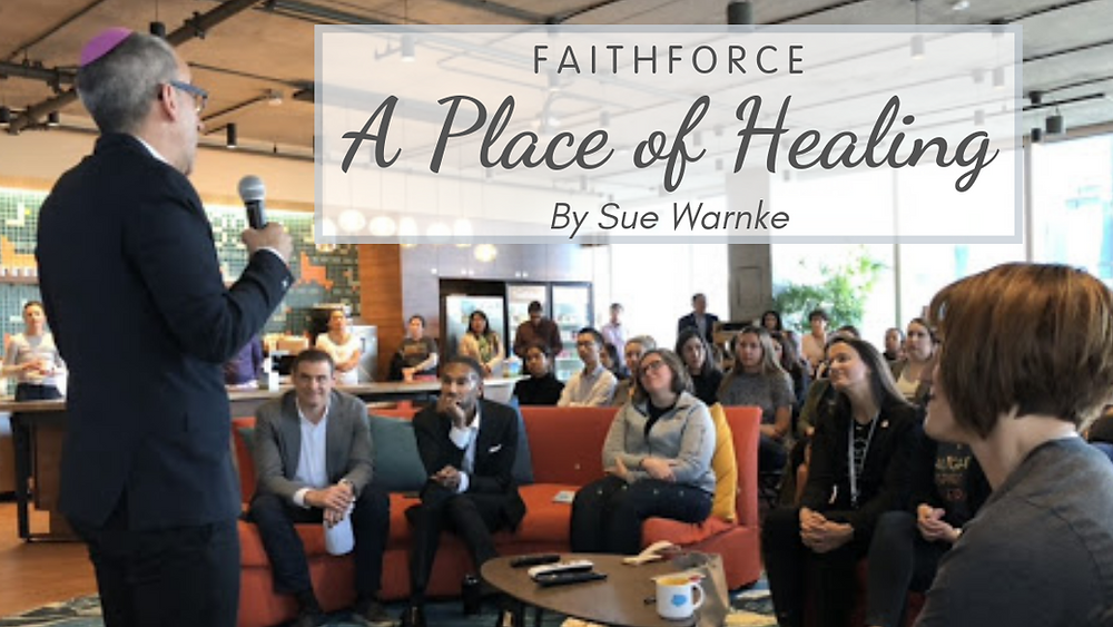 A vigil at Salesforce after the Tree of Life Shootings
