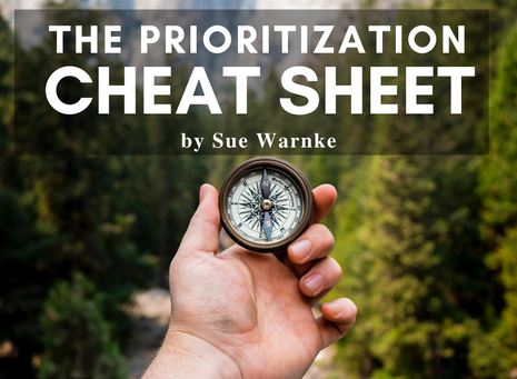 The Prioritization Cheat Sheet