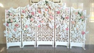 Ажурная ширма с цветами