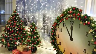 Новогодняя фотозона с часами