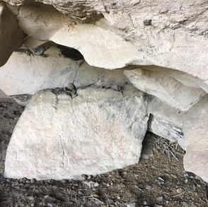 Petroglyphs and pictographs in the Cave