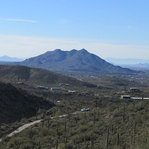 View of Carefree/Cave Creek from Sierra Vista Sanctuary