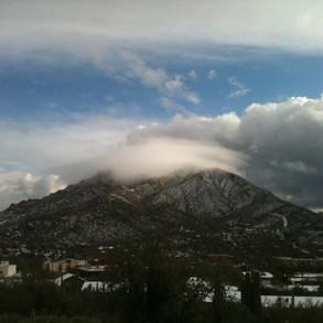 Black Mountain with snow by Bob Hughes