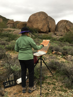 Plein air painting on the preserve