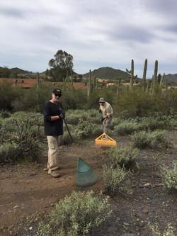 Trail work on Saguaro Hill