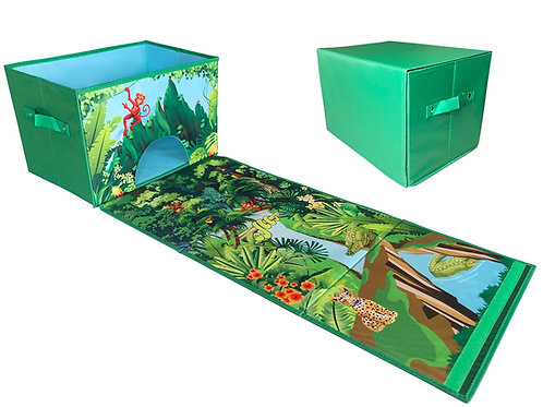 EMBRACE PLAY Toy box - 2 in 1 collapsible toy bin and playmat for kids - toy box
