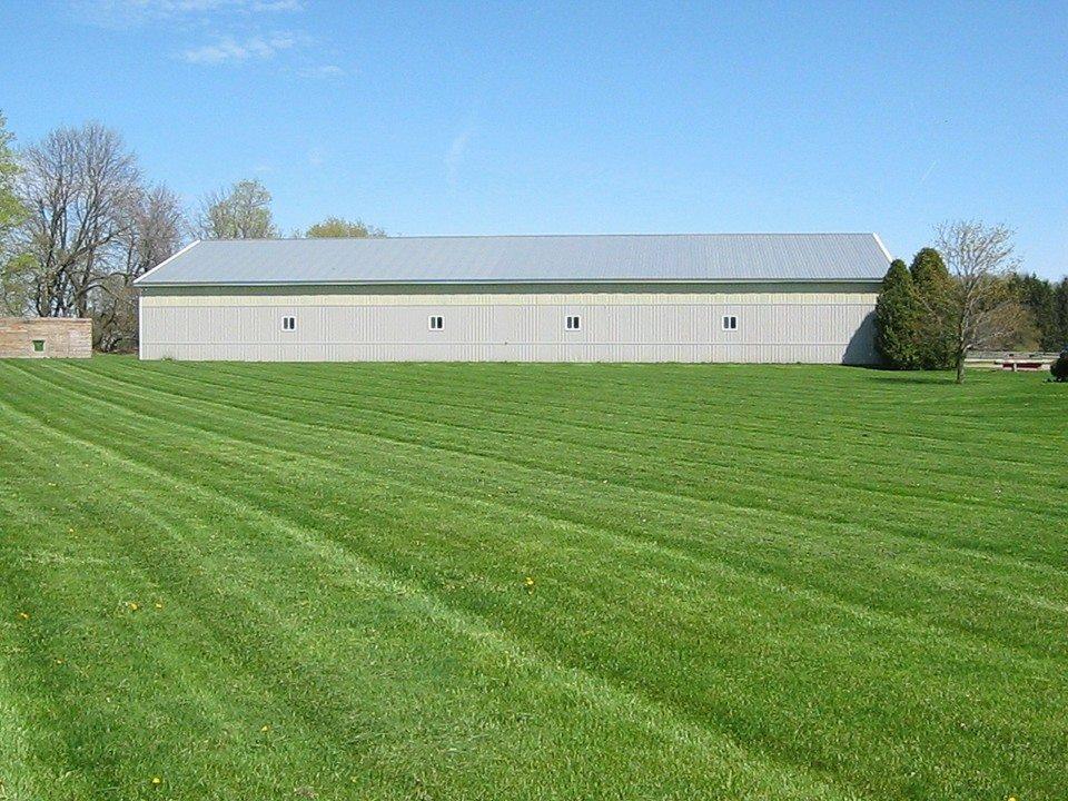 Grassy riding area