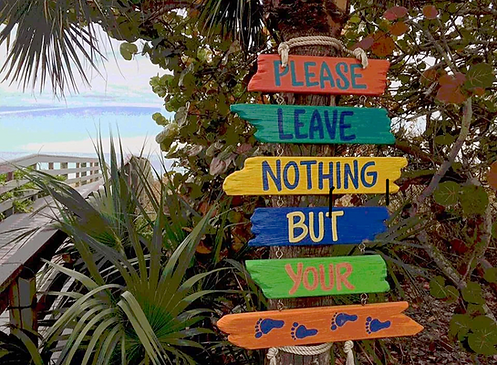 Leave nothing but your footprints sign.p