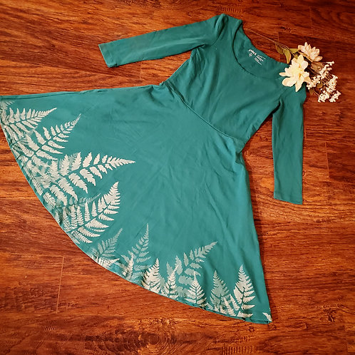 Organic XS Botanical Skater Dress