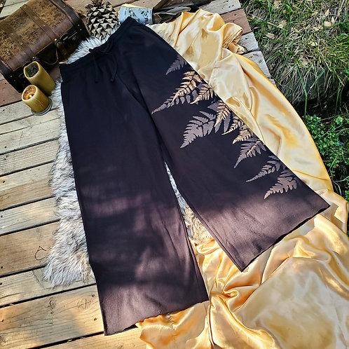 Large Metallic Wide Leg Pants