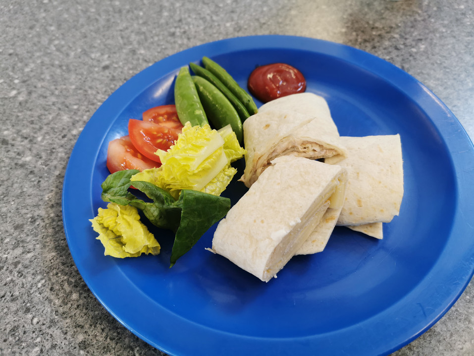Tortilla wraps with a selection of filli