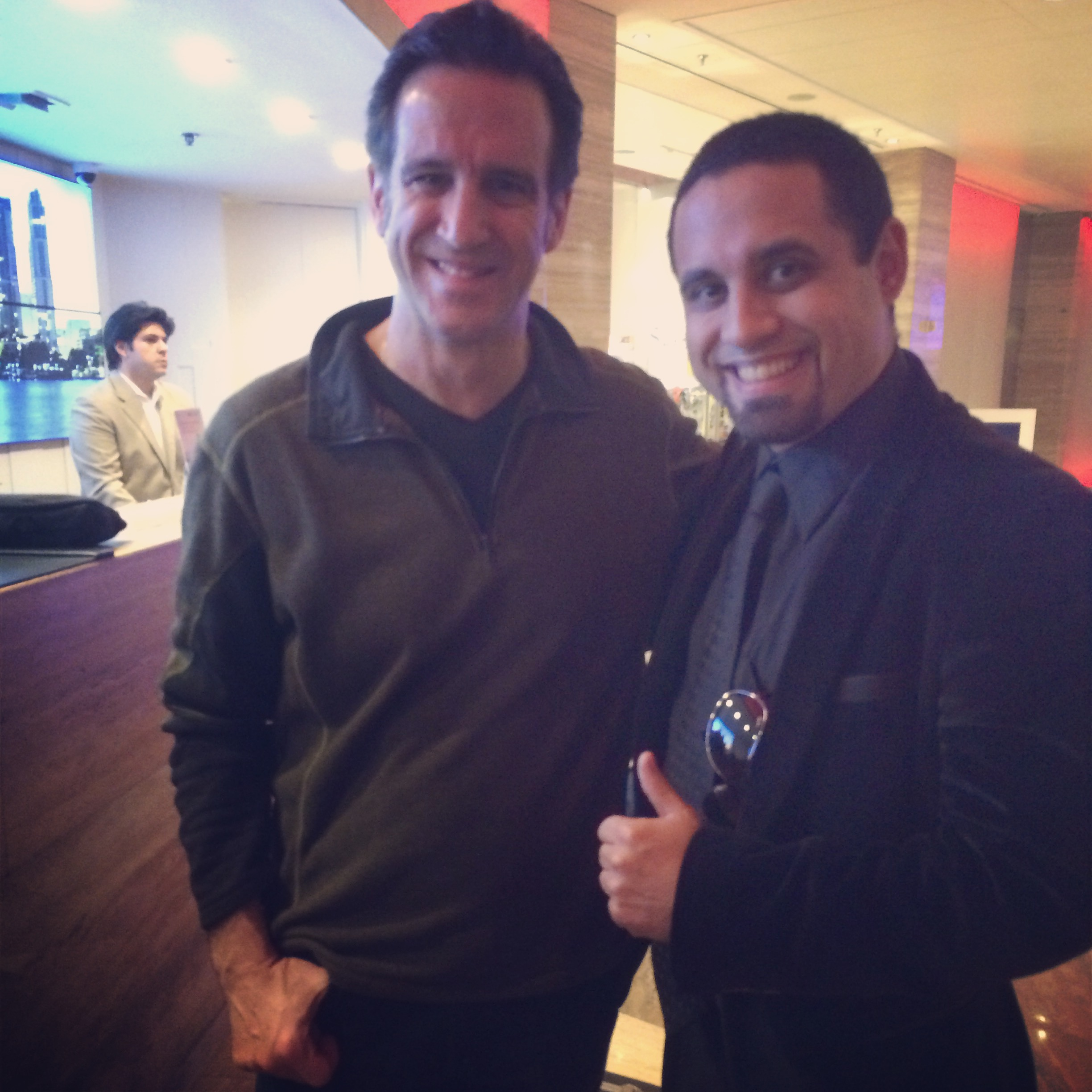 After show with Eric Marienthal