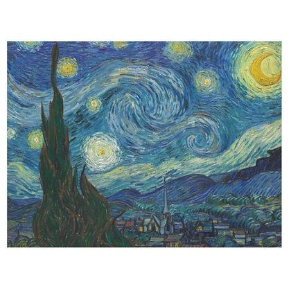 Canvas - A noite estrelada 100 x 75 cm  (Tela impressa sobre chassi de madeira)