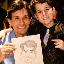 Caricaturista do Vídeo Show também atua na festa de famosos