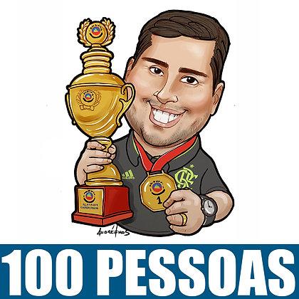 KIT com 100 caricatura Digitais Busto Coloridas