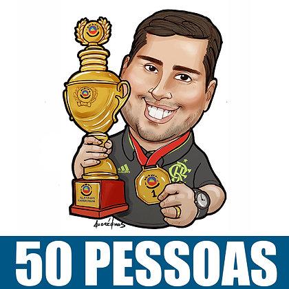 Kit com 50 caricaturas Digitais Busto Coloridas